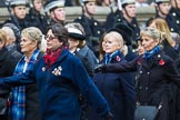 Remembrance Sunday at the Cenotaph 2015: Group E18, Association of WRENS. Cenotaph, Whitehall, London SW1, London, Greater London, United Kingdom, on 08 November 2015 at 12:01, image #904