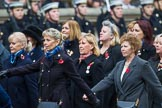 Remembrance Sunday at the Cenotaph 2015: Group E18, Association of WRENS. Cenotaph, Whitehall, London SW1, London, Greater London, United Kingdom, on 08 November 2015 at 12:01, image #905