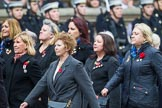 Remembrance Sunday at the Cenotaph 2015: Group E18, Association of WRENS. Cenotaph, Whitehall, London SW1, London, Greater London, United Kingdom, on 08 November 2015 at 12:01, image #906