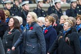 Remembrance Sunday at the Cenotaph 2015: Group E18, Association of WRENS. Cenotaph, Whitehall, London SW1, London, Greater London, United Kingdom, on 08 November 2015 at 12:01, image #907