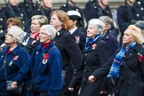 Remembrance Sunday at the Cenotaph 2015: Group E18, Association of WRENS. Cenotaph, Whitehall, London SW1, London, Greater London, United Kingdom, on 08 November 2015 at 12:01, image #909