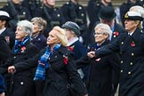 Remembrance Sunday at the Cenotaph 2015: Group E18, Association of WRENS. Cenotaph, Whitehall, London SW1, London, Greater London, United Kingdom, on 08 November 2015 at 12:01, image #910