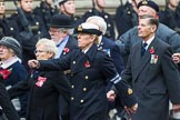 Remembrance Sunday at the Cenotaph 2015: Group E18, Association of WRENS, and  E19, Royal Fleet Auxiliary Association. Cenotaph, Whitehall, London SW1, London, Greater London, United Kingdom, on 08 November 2015 at 12:01, image #911