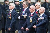 Remembrance Sunday at the Cenotaph 2015: Group E28, Aircraft Handlers Association. Cenotaph, Whitehall, London SW1, London, Greater London, United Kingdom, on 08 November 2015 at 12:02, image #950