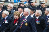Remembrance Sunday at the Cenotaph 2015: Group E28, Aircraft Handlers Association. Cenotaph, Whitehall, London SW1, London, Greater London, United Kingdom, on 08 November 2015 at 12:02, image #954