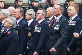 Remembrance Sunday at the Cenotaph 2015: Group E28, Aircraft Handlers Association. Cenotaph, Whitehall, London SW1, London, Greater London, United Kingdom, on 08 November 2015 at 12:02, image #956