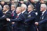 Remembrance Sunday at the Cenotaph 2015: Group E28, Aircraft Handlers Association. Cenotaph, Whitehall, London SW1, London, Greater London, United Kingdom, on 08 November 2015 at 12:02, image #958