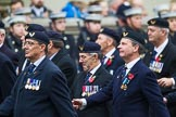 Remembrance Sunday at the Cenotaph 2015: Group E29, Aircrewmans Association. Cenotaph, Whitehall, London SW1, London, Greater London, United Kingdom, on 08 November 2015 at 12:02, image #962