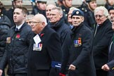 Remembrance Sunday at the Cenotaph 2015: Group E32, Fleet Air Arm Armourers Association. Cenotaph, Whitehall, London SW1, London, Greater London, United Kingdom, on 08 November 2015 at 12:03, image #974