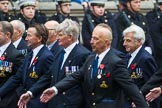 Remembrance Sunday at the Cenotaph 2015: Group E39, Royal Navy School of Physical Training. Cenotaph, Whitehall, London SW1, London, Greater London, United Kingdom, on 08 November 2015 at 12:04, image #1008