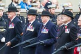 Remembrance Sunday at the Cenotaph 2015: Group F5, Queen's Bodyguard of The Yeoman of The Guard. Cenotaph, Whitehall, London SW1, London, Greater London, United Kingdom, on 08 November 2015 at 12:04, image #1023