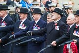 Remembrance Sunday at the Cenotaph 2015: Group F5, Queen's Bodyguard of The Yeoman of The Guard. Cenotaph, Whitehall, London SW1, London, Greater London, United Kingdom, on 08 November 2015 at 12:04, image #1024