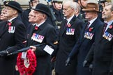 Remembrance Sunday at the Cenotaph 2015: Group F5, Queen's Bodyguard of The Yeoman of The Guard. Cenotaph, Whitehall, London SW1, London, Greater London, United Kingdom, on 08 November 2015 at 12:04, image #1025