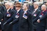 Remembrance Sunday at the Cenotaph 2015: Group F5, Queen's Bodyguard of The Yeoman of The Guard. Cenotaph, Whitehall, London SW1, London, Greater London, United Kingdom, on 08 November 2015 at 12:04, image #1026