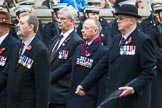 Remembrance Sunday at the Cenotaph 2015: Group F5, Queen's Bodyguard of The Yeoman of The Guard. Cenotaph, Whitehall, London SW1, London, Greater London, United Kingdom, on 08 November 2015 at 12:04, image #1027
