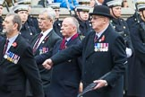 Remembrance Sunday at the Cenotaph 2015: Group F5, Queen's Bodyguard of The Yeoman of The Guard. Cenotaph, Whitehall, London SW1, London, Greater London, United Kingdom, on 08 November 2015 at 12:04, image #1028
