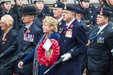 Remembrance Sunday at the Cenotaph 2015: Group F7, TRBL Ex-Service Members. Cenotaph, Whitehall, London SW1, London, Greater London, United Kingdom, on 08 November 2015 at 12:04, image #1030