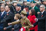 Remembrance Sunday at the Cenotaph 2015: Group F8, The Royal British Legion Poppy Factory. Cenotaph, Whitehall, London SW1, London, Greater London, United Kingdom, on 08 November 2015 at 12:04, image #1041