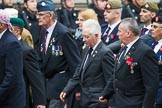 Remembrance Sunday at the Cenotaph 2015: Group F7, TRBL Ex-Service Members. Cenotaph, Whitehall, London SW1, London, Greater London, United Kingdom, on 08 November 2015 at 12:04, image #1049