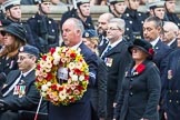 Remembrance Sunday at the Cenotaph 2015: Group F16, National Gulf Veterans & Families Association. Cenotaph, Whitehall, London SW1, London, Greater London, United Kingdom, on 08 November 2015 at 12:06, image #1086