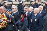 Remembrance Sunday at the Cenotaph 2015: Group F16, National Gulf Veterans & Families Association. Cenotaph, Whitehall, London SW1, London, Greater London, United Kingdom, on 08 November 2015 at 12:06, image #1087