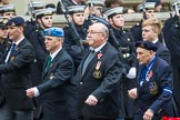 Remembrance Sunday at the Cenotaph 2015: Group F18, Memorable Order of Tin Hats. Cenotaph, Whitehall, London SW1, London, Greater London, United Kingdom, on 08 November 2015 at 12:06, image #1096