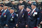 Remembrance Sunday at the Cenotaph 2015: Group F19, Suez Veterans Association. Cenotaph, Whitehall, London SW1, London, Greater London, United Kingdom, on 08 November 2015 at 12:06, image #1100