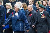 Remembrance Sunday at the Cenotaph 2015: Group F21, 1st Army Association. Cenotaph, Whitehall, London SW1, London, Greater London, United Kingdom, on 08 November 2015 at 12:06, image #1115