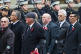 Remembrance Sunday at the Cenotaph 2015: Group F22, Showmens' Guild of Great Britain. Cenotaph, Whitehall, London SW1, London, Greater London, United Kingdom, on 08 November 2015 at 12:06, image #1120