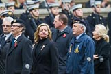 Remembrance Sunday at the Cenotaph 2015: Group F22, Showmens' Guild of Great Britain. Cenotaph, Whitehall, London SW1, London, Greater London, United Kingdom, on 08 November 2015 at 12:07, image #1121