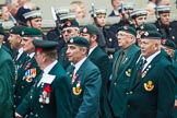 Remembrance Sunday at the Cenotaph 2015: Group A2, Royal Green Jackets Association. Cenotaph, Whitehall, London SW1, London, Greater London, United Kingdom, on 08 November 2015 at 12:07, image #1153