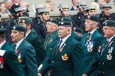Remembrance Sunday at the Cenotaph 2015: Group A2, Royal Green Jackets Association. Cenotaph, Whitehall, London SW1, London, Greater London, United Kingdom, on 08 November 2015 at 12:07, image #1154