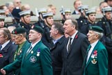 Remembrance Sunday at the Cenotaph 2015: Group A2, Royal Green Jackets Association. Cenotaph, Whitehall, London SW1, London, Greater London, United Kingdom, on 08 November 2015 at 12:07, image #1156