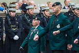 Remembrance Sunday at the Cenotaph 2015: Group A2, Royal Green Jackets Association. Cenotaph, Whitehall, London SW1, London, Greater London, United Kingdom, on 08 November 2015 at 12:08, image #1157
