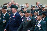 Remembrance Sunday at the Cenotaph 2015: Group A2, Royal Green Jackets Association. Cenotaph, Whitehall, London SW1, London, Greater London, United Kingdom, on 08 November 2015 at 12:08, image #1159