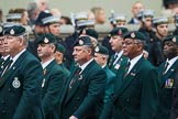 Remembrance Sunday at the Cenotaph 2015: Group A2, Royal Green Jackets Association. Cenotaph, Whitehall, London SW1, London, Greater London, United Kingdom, on 08 November 2015 at 12:08, image #1161