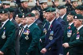 Remembrance Sunday at the Cenotaph 2015: Group A2, Royal Green Jackets Association. Cenotaph, Whitehall, London SW1, London, Greater London, United Kingdom, on 08 November 2015 at 12:08, image #1167
