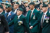 Remembrance Sunday at the Cenotaph 2015: Group A2, Royal Green Jackets Association. Cenotaph, Whitehall, London SW1, London, Greater London, United Kingdom, on 08 November 2015 at 12:08, image #1169