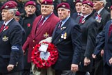 Remembrance Sunday at the Cenotaph 2015: Group A3, Parachute Regimental Association. Cenotaph, Whitehall, London SW1, London, Greater London, United Kingdom, on 08 November 2015 at 12:08, image #1186