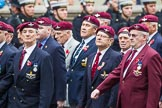 Remembrance Sunday at the Cenotaph 2015: Group A3, Parachute Regimental Association. Cenotaph, Whitehall, London SW1, London, Greater London, United Kingdom, on 08 November 2015 at 12:08, image #1188