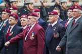 Remembrance Sunday at the Cenotaph 2015: Group A3, Parachute Regimental Association. Cenotaph, Whitehall, London SW1, London, Greater London, United Kingdom, on 08 November 2015 at 12:08, image #1189