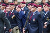 Remembrance Sunday at the Cenotaph 2015: Group A3, Parachute Regimental Association. Cenotaph, Whitehall, London SW1, London, Greater London, United Kingdom, on 08 November 2015 at 12:08, image #1191
