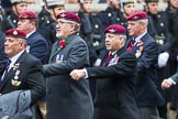 Remembrance Sunday at the Cenotaph 2015: Group A3, Parachute Regimental Association. Cenotaph, Whitehall, London SW1, London, Greater London, United Kingdom, on 08 November 2015 at 12:09, image #1195