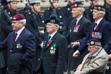 Remembrance Sunday at the Cenotaph 2015: Group A3, Parachute Regimental Association. Cenotaph, Whitehall, London SW1, London, Greater London, United Kingdom, on 08 November 2015 at 12:09, image #1197