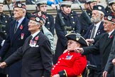 Remembrance Sunday at the Cenotaph 2015: Group A6, Gordon Highlanders Association. Cenotaph, Whitehall, London SW1, London, Greater London, United Kingdom, on 08 November 2015 at 12:10, image #1220