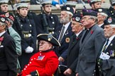 Remembrance Sunday at the Cenotaph 2015: Group A6, Gordon Highlanders Association. Cenotaph, Whitehall, London SW1, London, Greater London, United Kingdom, on 08 November 2015 at 12:10, image #1221