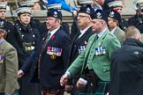 Remembrance Sunday at the Cenotaph 2015: Group A8, Queen's Own Highlanders Regimental Association. Cenotaph, Whitehall, London SW1, London, Greater London, United Kingdom, on 08 November 2015 at 12:10, image #1229