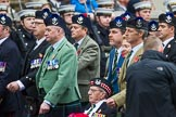 Remembrance Sunday at the Cenotaph 2015: Group A8, Queen's Own Highlanders Regimental Association. Cenotaph, Whitehall, London SW1, London, Greater London, United Kingdom, on 08 November 2015 at 12:10, image #1230
