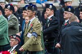 Remembrance Sunday at the Cenotaph 2015: Group A8, Queen's Own Highlanders Regimental Association. Cenotaph, Whitehall, London SW1, London, Greater London, United Kingdom, on 08 November 2015 at 12:10, image #1231