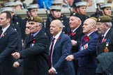 Remembrance Sunday at the Cenotaph 2015: Group A10, Grenadier Guards Association. Cenotaph, Whitehall, London SW1, London, Greater London, United Kingdom, on 08 November 2015 at 12:10, image #1252